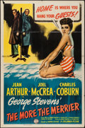 "Movie Posters:Comedy, The More the Merrier (Columbia, 1943). One Sheet (27"" X 41"").Comedy.. ..."