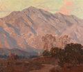 Paintings, EDGAR ALWIN PAYNE (American, 1883-1947). Sunset on the Foothills (Pasadena). Oil on canvas. 24 x 28-1/4 inches (61.0 x 7...