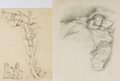 Books:Children's Books, Garth Williams (1912-1996), illustrator. Pair of OriginalPreliminary Pencil Sketches From The Tall Book ofMake-Believe...