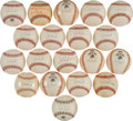 Autographs:Baseballs, 1990's Cal Ripken, Jr. Single Signed Baseballs Lot of 19....