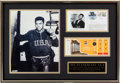 Boxing Collectibles:Memorabilia, 1960 Rome Olympics Boxing Display Signed by Muhammad Ali....