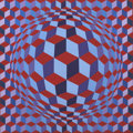 Paintings, VICTOR VASARELY (French, 1908-1997). CHEYT-N, 1981. Acrylic on canvas. 28 x 28 inches (71.1 x 71.1 cm). Signed bottom ri...