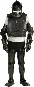 """Movie/TV Memorabilia:Costumes, """"First Knight"""" -- Chris Villiers' Costume Armor. Set of blackmedieval-style body armor crafted in plastic, worn by actor Ch...(Total: 1 Item)"""