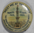 Expositions and Fairs, 1904 St. Louis World's Fair Celluloid Pinback....