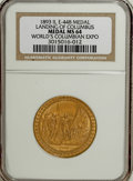 Expositions and Fairs, 1893 Landing of Columbus Commemorative MS64 NGC....