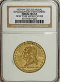 Expositions and Fairs, 1939 Inauguration 150th Anniversary of New York World's Fair, MS62 NGC....