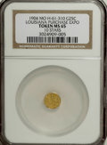 Expositions and Fairs, 1904 Louisiana Purchase 1/4 Gold MS65 NGC....