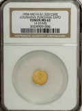 Expositions and Fairs, 1904 Louisiana Purchase Expo 1/2 Gold MS63 NGC....