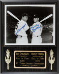 Baseball Collectibles:Photos, 1980's Joe DiMaggio & Mickey Mantle Signed Photograph....