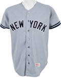 Baseball Collectibles:Uniforms, 1987 Dave Righetti Game Worn New York Yankees Jersey....