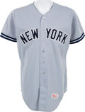 Baseball Collectibles:Uniforms, 1987 Dave Winfield Game Worn New York Yankees Jersey....