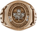 Hockey Collectibles:Others, 1978 Garry Unger World Championship Team Canada Ring....
