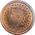 Proof Large Cents, 1857 1C Small Date PR65 Red and Brown NGC. N-5, High R.5....