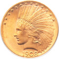 Indian Eagles, 1908-S $10 MS64 PCGS....