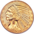 Indian Half Eagles, 1909-O $5 MS63 PCGS Secure. CAC....