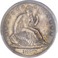 Seated Half Dollars, 1870-S 50C MS63 PCGS. WB-101. CAC....
