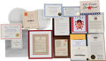 Baseball Collectibles:Others, 1950's-2010's Stan Musial Awards Lot....