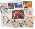 Baseball Collectibles:Others, Original Artwork & Prints from The Stan Musial Collection....