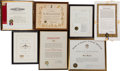 Baseball Collectibles:Others, 1963 Stan Musial Awards & Proclamations Given During His FinalMajor League Season Lot of 7. ...