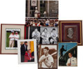 Baseball Collectibles:Photos, Stan Musial Personal Collection of Signed Oversized Photographs Lotof 7 With Warren Buffett. ...
