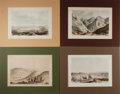 """Books:Prints & Leaves, [California] Lot of Four Tinted Lithographs From the PacificRailroad Survey, Circa 1860. 11.5"""" x 8.5"""" overall and matted. V..."""
