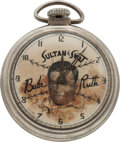 "Baseball Collectibles:Others, Circa 1940 Babe Ruth ""Sultan of Swat"" Pocket Watch...."