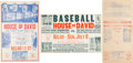 Baseball Collectibles:Others, 1920's-30's House of David Baseball Broadsides Lot of 3....