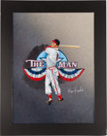 Baseball Collectibles:Others, Circa 2010 Stan Musial Original Artwork by Ken Karl....