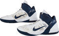Basketball Collectibles:Others, 2010 Jimmer Fredette Game Worn Signed Shoes - Worn During CollegeCareer at BYU. ...