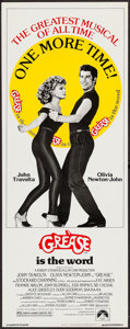"Movie Posters:Musical, Grease (Paramount, R-1980). Insert (14"" X 36""). Musical.. ..."