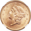 Liberty Double Eagles, 1852 $20 MS61 NGC....