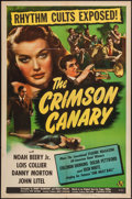 "Movie Posters:Mystery, The Crimson Canary (Universal, 1945). One Sheet (27"" X 41"").Mystery.. ..."