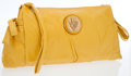 Luxury Accessories:Bags, Gucci Yellow Leather Heritage Collection Clutch Bag. ...