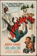 """Movie Posters:Crime, Avalanche (PRC, 1946). One Sheet (27"""" X 41""""). Crime.. ..."""