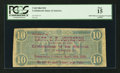 Confederate Notes:1864 Issues, Political Campaign Overprint T68 $10 1864.. ...