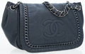 Luxury Accessories:Bags, Chanel Navy Leather Luxe Ligne Accordion Flap Bag with CC Detail& Modern Chain. ...