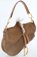 Luxury Accessories:Bags, Christian Dior Brown Pony Hair Saddle Bag. ...
