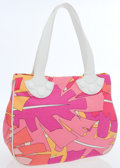 Luxury Accessories:Bags, Emilio Pucci Pink Graphic Print Canvas Tote Bag. ...