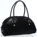 Luxury Accessories:Bags, Prada Black Pony Hair Bowler Bag. ...