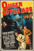 "Movie Posters:Crime, Queen of the Mob (Paramount, 1940). One Sheet (27"" X 41""). Crime....."