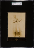 Boxing Cards:General, 1890's Richard Fox Peter Jackson Cabinet Photo SGC Authentic. ...