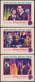 """Movie Posters:Hitchcock, Stage Fright (Warner Brothers, 1950). Lobby Cards (3) (11"""" X 14"""").Hitchcock.. ... (Total: 3 Items)"""