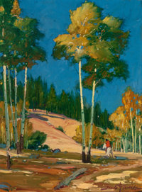 GERALD CASSIDY (American, 1879-1934) The Summit, New Mexico, 1922 Oil on canvas 16 x 20 inches (4
