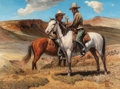 Western:20th Century, ROBERT WESLEY AMICK (American, 1879-1969). On the Range. Oil on canvas. 30 x 40 inches (76.2 x 101.6 cm). Signed lower r...