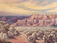 CHARLES H. REYNOLDS (American, 1902-1963) Mesas a Coyotes, circa 1940s Oil on canvas 18 x 24 inch