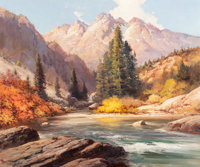 ROBERT WILLIAM WOOD (American, 1889-1979) Colorado River Oil on canvas 25 x 30 inches (63.5 x 76