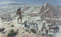 CARL E. HANTMAN (American, b. 1935) Apache Lookout, 1990 Oil on canvas 30-1/2 x 48 inches (77.5 x