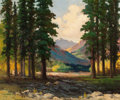 Paintings, ROBERT WILLIAM WOOD (American, 1889-1979). A View of the Mountains. Oil on canvas. 25 x 30 inches (63.5 x 76.2 cm). Sign...