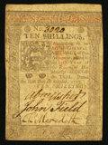 Colonial Notes:Pennsylvania, Pennsylvania October 1, 1773 10s Very Fine.. ...