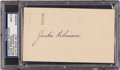 Autographs:Post Cards, 1949 Jackie Robinson Signed Government Postcard, PSA/DNA Mint 9....